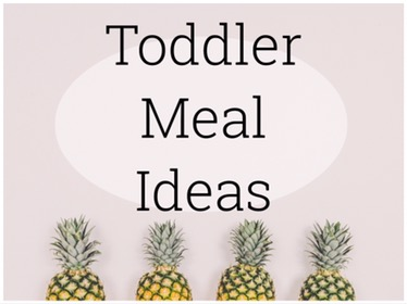 Toddler Meal Ideas – Lunches