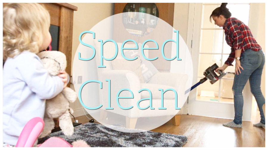 Speed Cleaning with a Toddler!